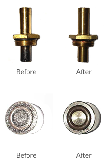 before and after use on a car
