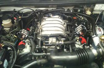 step 2 -remove any engine plastics